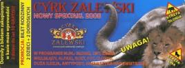 Cyrk Zalewski Circus Ticket - 2008