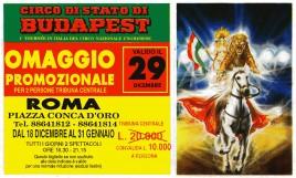 Circo di Stato di Budapest Circus Ticket - 1990