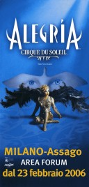 Cirque Du Soleil - Alegria Circus Ticket - 2006