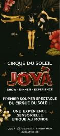 Cirque Du Soleil - JOYÀ Circus Ticket - 2016
