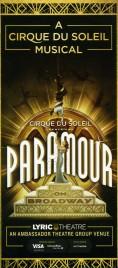 Cirque Du Soleil - Paramour Circus Ticket - 2016