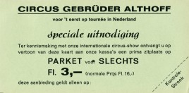 Circus Gebrüder Althoff Circus Ticket - 0
