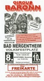 Circus Baronn Circus Ticket - 2000