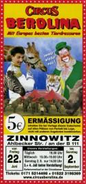 Circus Berolina Circus Ticket - 2001