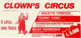 Clown's Circus Circus Ticket - 1984