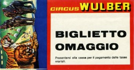 Circus Wulber Circus Ticket - 1983