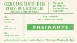 Circus und Eis - Circo sul Ghiaccio Circus Ticket - 1973