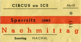 Circus on Ice - Circo sul Ghiaccio Circus Ticket - 1973