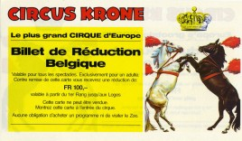 Circus Krone Circus Ticket - 0