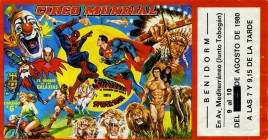 Gran Circo Mundial Circus Ticket - 1980