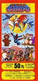 El Gran Circo Circus Ticket - 1980