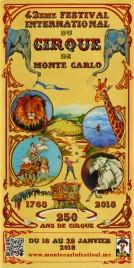42eme Festival International du Cirque de Monte-Carlo Circus Ticket - 2018