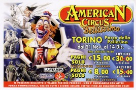 American Circus Circus Ticket - 2008