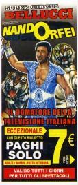 Super Circus Bellucci presentato da Nando Orfei Circus Ticket - 2008