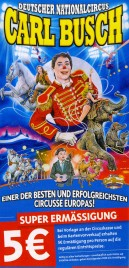 Deutscher Nationalcircus Carl Busch Circus Ticket - 2017