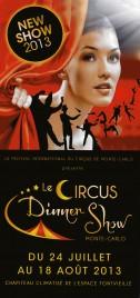 Le Circus Dinner Show - Monte Carlo Circus Ticket - 2013