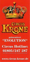 Circus Krone Circus Ticket - 2015