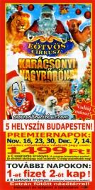 Eötvös Cirkusz Circus Ticket - 2017