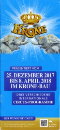 Circus Krone Circus Ticket - 2017
