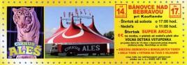 Cirkus Aleš Circus Ticket - 2017
