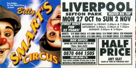 Billy Smart's Circus Circus Ticket - 2003