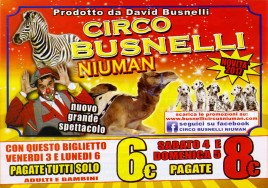 Busnelli Niuman Circus Circus Ticket - 2017