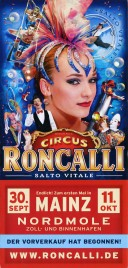 Circus Roncalli - Salto Vitale Circus Ticket - 2015