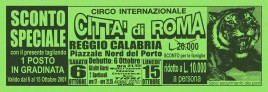 Circo Citta' di Roma Circus Ticket - 2001