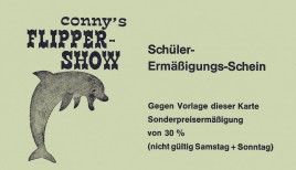 Conny's Flipper Show Circus Ticket - 1975