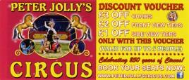 Peter Jolly's Circus Circus Ticket - 2018