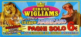 Circus Wigliams Circus Ticket - 2014