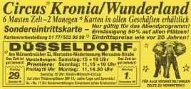 Circus Kronia Circus Ticket - 1999