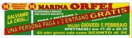 Circo Marina Orfei Circus Ticket - 1998