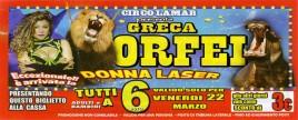 Circo Greca Orfei Circus Ticket - 2019