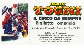 Circo Darix Togni Circus Ticket - 1987