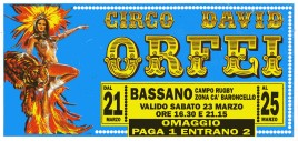 Circo David Orfei Circus Ticket - 0