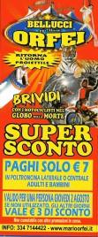 Circo Bellucci + Mario Orfei Circus Ticket - 2012