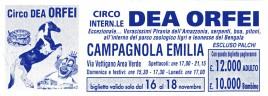 Circo Dea Orfei Circus Ticket - 0