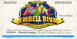Circo Embell Riva Circus Ticket - 2005