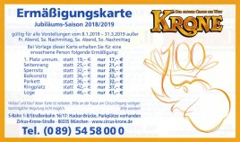 Circus Krone Circus Ticket - 2019
