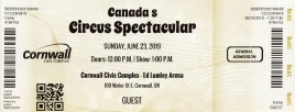 Canada's Circus Spectacular Circus Ticket - 2019