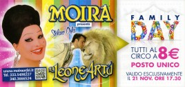 Circo Moira Orfei Circus Ticket - 2014