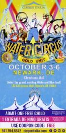 Cirque Italia - Water Circus Circus Ticket - 2019
