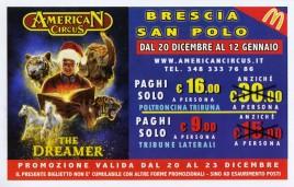 American Circus Circus Ticket - 2019