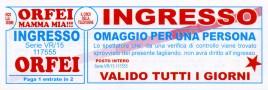 Circo Orfei Circus Ticket - 2014