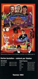 Österreichischer National-Circus Louis Knie Circus Ticket - 1994