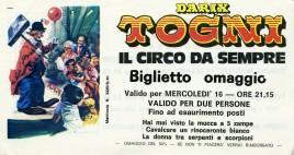Circo Darix Togni Circus Ticket - 1988