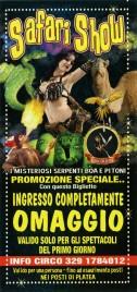 Safari Show Circus Ticket - 0