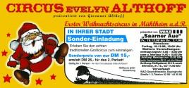 Circus Evelyin Althoff Circus Ticket - 1998